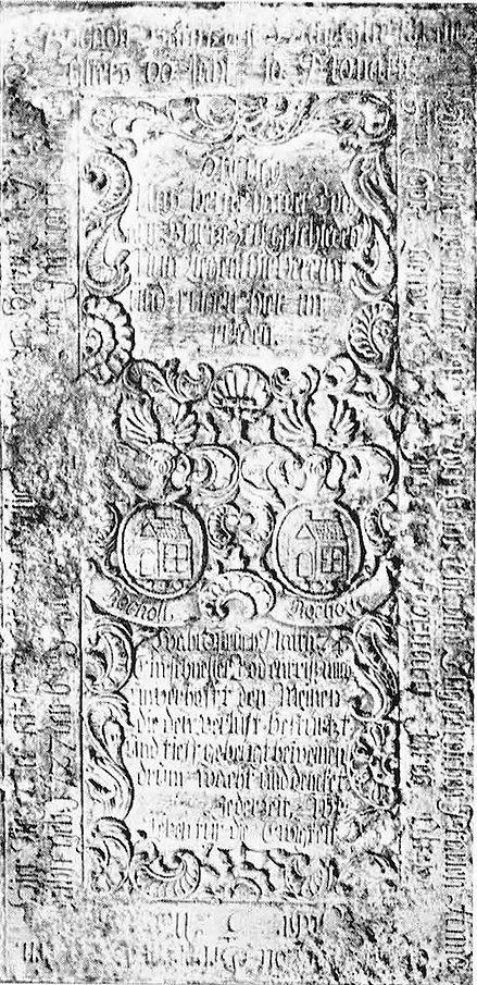 0601900 und 91 Grabplatte von Melchior u