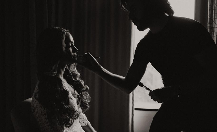 makeup artist and bride photos