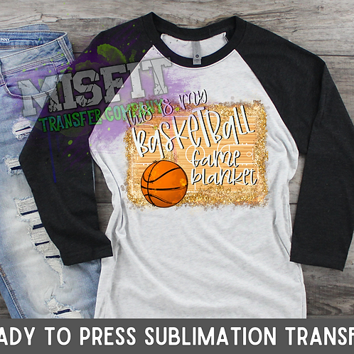 Basketball Blanket - Sublimation Transfer