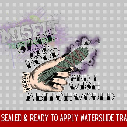 Sage & Hood 1 - Clear Waterslide