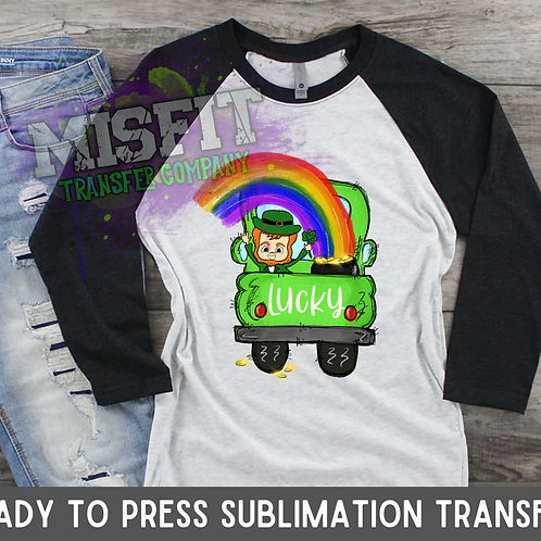St. Patrick's Day - Rainbow - Doodle Truck - Sublimation Transfer