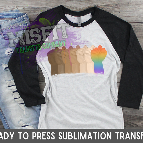 Equality Fist - Sublimation Transfer