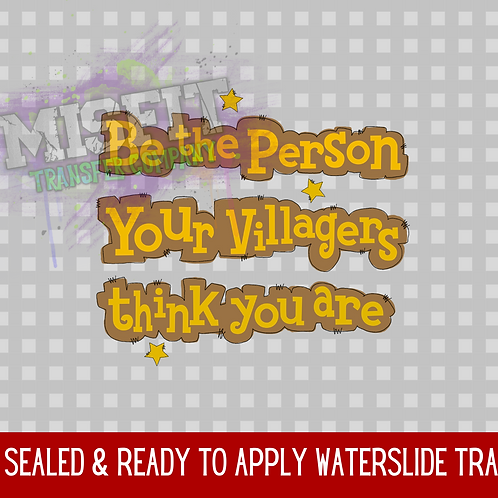 Be the Person Your Villagers Think You Are - Animal Crossing - Clear Waterslide