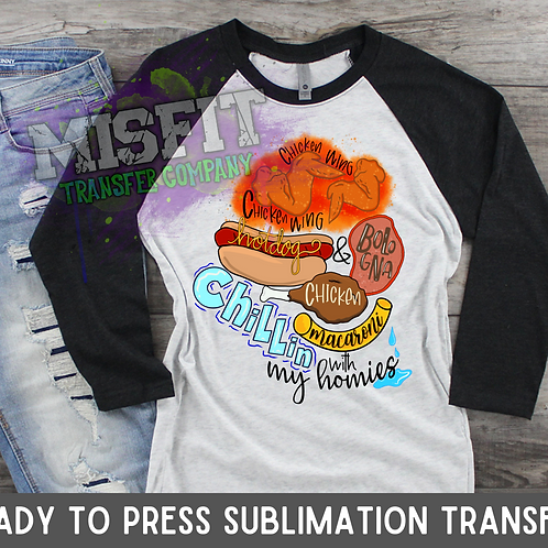 Chicken Wing, Chicken Wing - Tik Tok Song - Sublimation Transfe