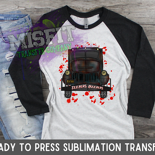 Jeepers Creepers - Doodle Truck - Sublimation Transfer
