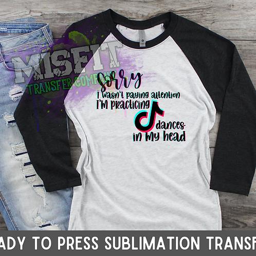 Tik Tok Dances - Sublimation Transfer
