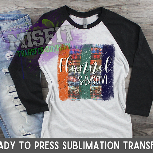 Flannel Season - Brush Strokes - Sublimation Transfer