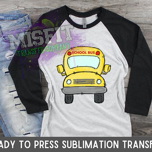 School Bus - Doodle Truck - Sublimation Transfer