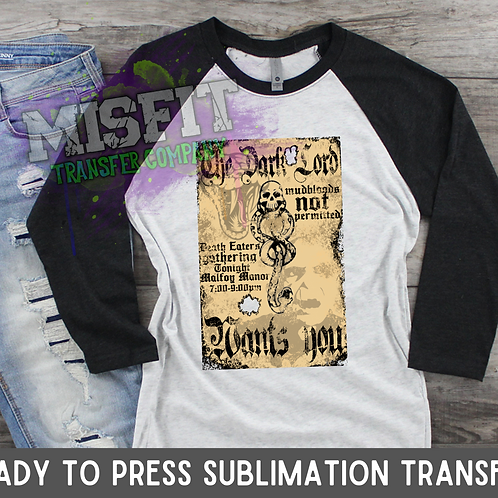 Death Eaters Poster - Sublimation Transfer