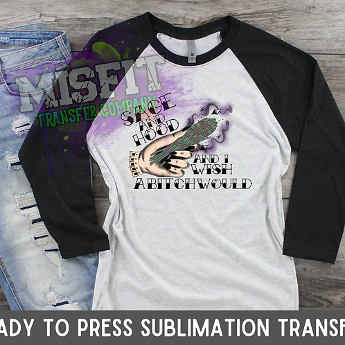 Sage & Hood 1 - Sublimation Transfer