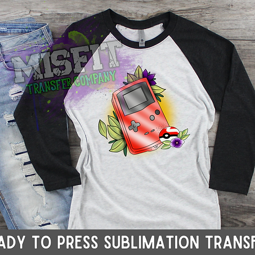 Tattoo Gameboy - Sublimation Transfer