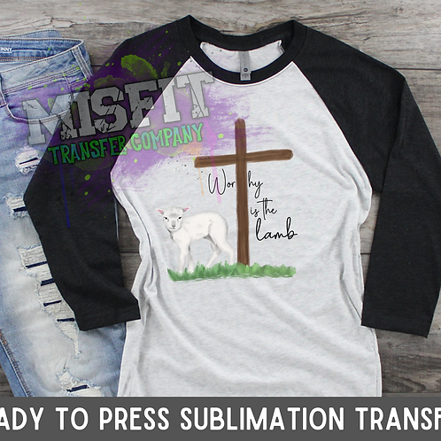 Easter Lamb - Sublimation Transfer