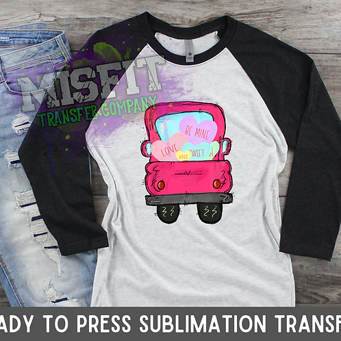 Valentine's Day Sweet Hearts - Doodle Truck - Sublimation Transfer