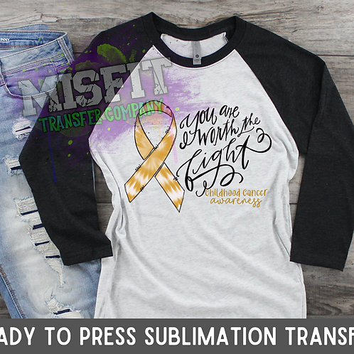 Childhood Cancer Awareness - Sublimation Transfe