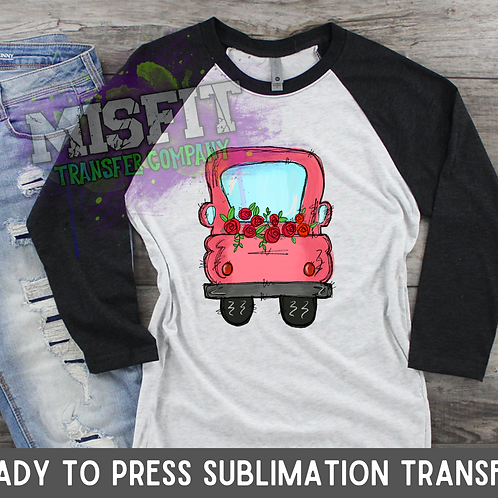 Valentine's Day Roses - Doodle Truck - Sublimation Transfer