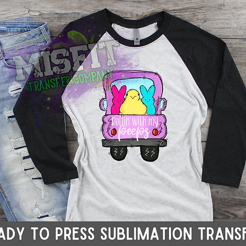 Rollin' With My Peeps Truck - Easter - Sublimation Transfer