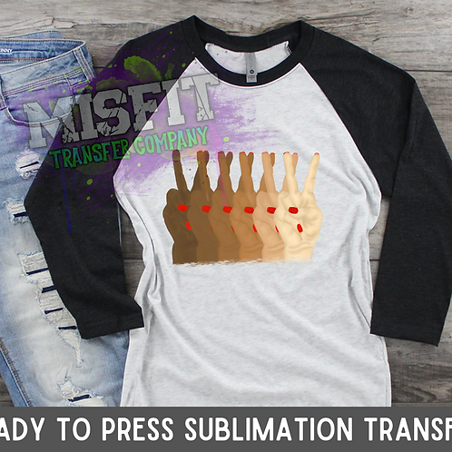 Every Shade Peace Sign - Sublimation Transfer