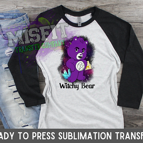 Witchy Bear - Sublimation Transfer