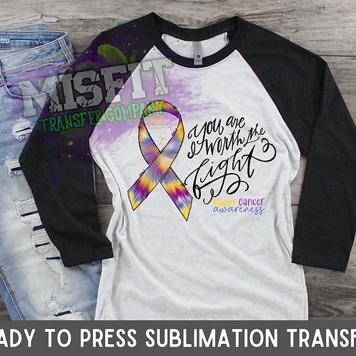 Bladder Cancer Awareness - Sublimation Transfer