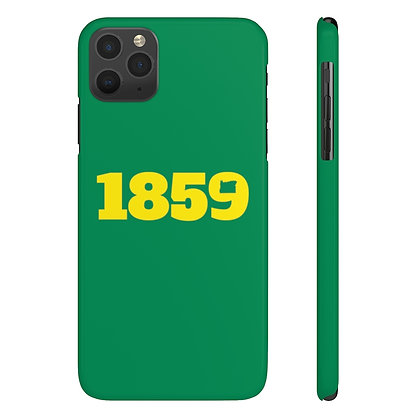 1859 Slim Green and Yellow Case Mate iPhone Cases