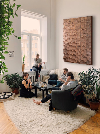 Living Room with People