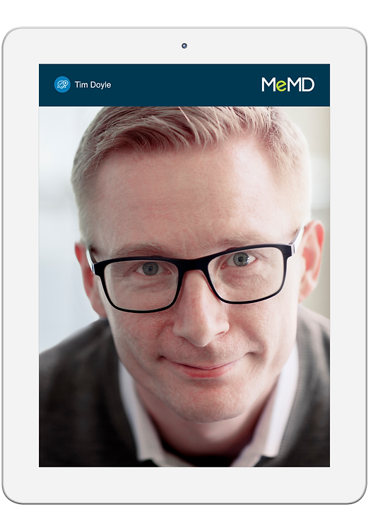 MeMD Video Visit on Tablet