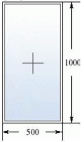 Глухое окно 500 на 1000
