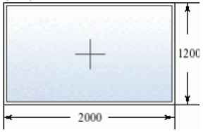 Глухое окно 2000 на 1200
