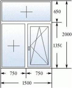Окно с фрамугой 1500 на 2000