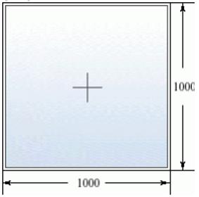 Глухое окно 500 на 500