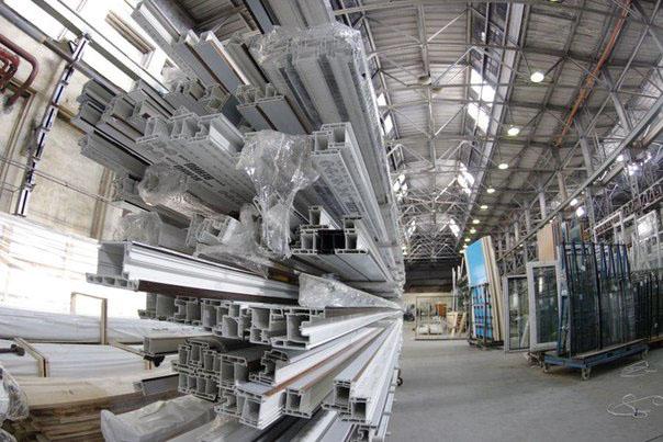 Склад завода Rehau