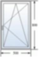 Одностворчатое окно 500 на 800