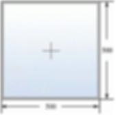 Эскиз глухого окна 500 на 500