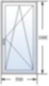 Одностворчатое окно 500 на 1000