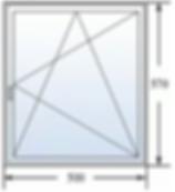 Одностворчатое окно 500 на 570