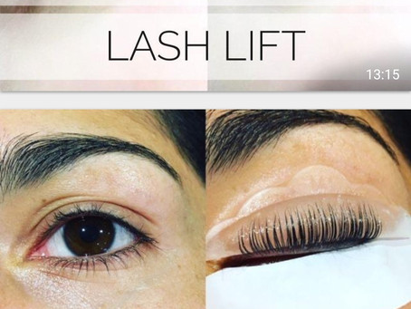 Eye lash lift by our beautician Olivia