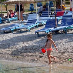 child playing seaside Hotel Garden  Radh