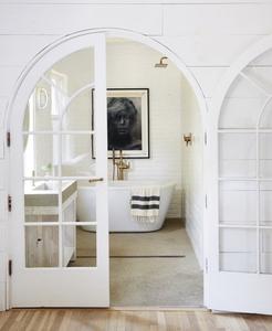 spa bathroom on a budget