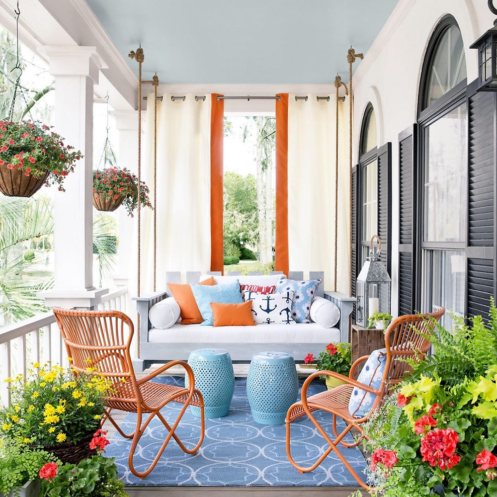 colorful patio design