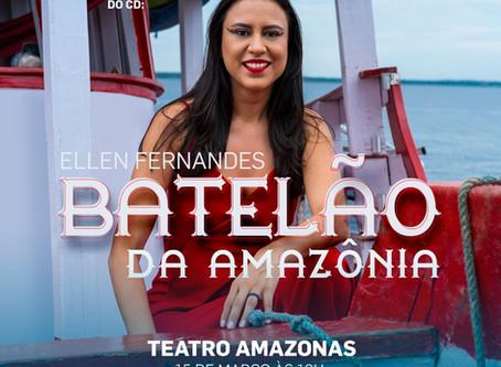 Teatro Amazonas será palco do lançamento do primeiro CD da cantora Ellen Fernandes