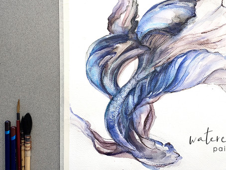 Painting a Betta Fish in Watercolor
