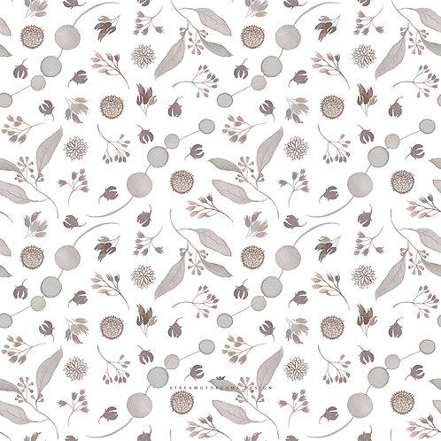 Elegant Fall Botanical Pattern Design