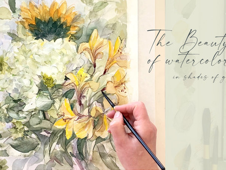 Capturing the beauty of spring colors by painting with watercolor.