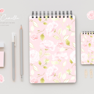 Watercolor Floral Digital Illustrations - Design Kit