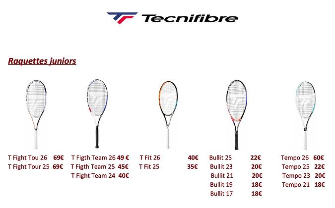 Tecnifibre Raquettes juniors.png