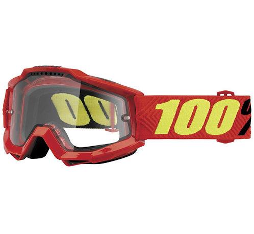 100% Accuri Enduro Goggles; Saarinen w/Clear Dual Lens