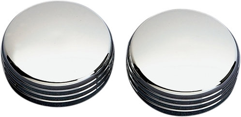 Show Chrome (51-331) Fork Cap Covers Ribbed