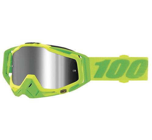100% Racecraft Plus Goggles; Sour Soul w/Silver Flash Lens
