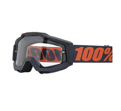 100% Accuri Enduro Goggles; Gunmetal w/Clear Dual Lens
