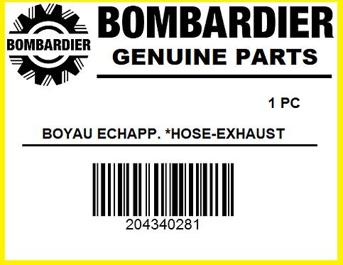 Bombardier 204340281 BOYAU ECHAPP *HOSE EXHAUST